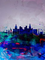 Las Vegas Watercolor Skyline Fine Art Print