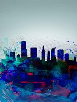 Miami Watercolor Skyline Fine Art Print
