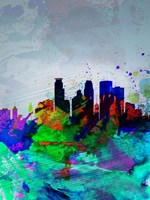 Minneapolis Watercolor Skyline Fine Art Print