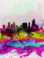 Tulsa Watercolor Skyline Fine Art Print