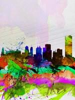 Buffalo Watercolor Skyline Fine Art Print