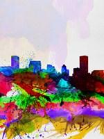 Baltimore Watercolor Skyline Fine Art Print