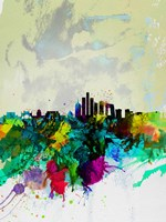 Beijing Watercolor Skyline Fine Art Print