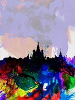 Moscow Watercolor Skyline Fine Art Print
