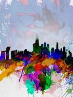 Copenhagen Watercolor Skyline Fine Art Print