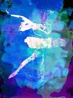 White Ballerina Watercolor Fine Art Print