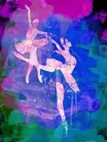 Two white Ballerinas Watercolor Fine Art Print