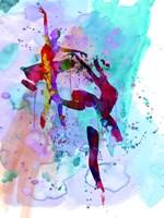Two Ballerinas Watercolor 1 Fine Art Print