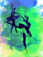 Two Ballerinas Watercolor 2 Fine Art Print