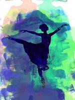 Ballerina's Dance Watercolor 2 Fine Art Print