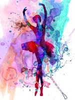 Ballerina's Dance Watercolor 3 Fine Art Print