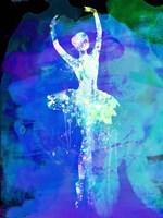 Ballerina's Dance Watercolor 4 Fine Art Print