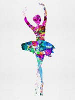 Ballerina Watercolor 1 Fine Art Print