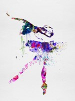 Ballerina Watercolor 2 Fine Art Print