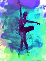 Ballerina Watercolor 4B Fine Art Print