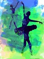 Two Dancing Ballerinas Watercolor 3 Fine Art Print