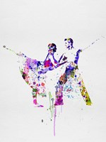 Romantic Ballet Watercolor 2 Fine Art Print