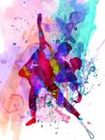 Romantic Ballet Watercolor 3 Fine Art Print