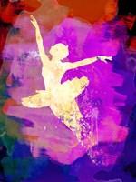 Flying Ballerina Watercolor 2 Fine Art Print