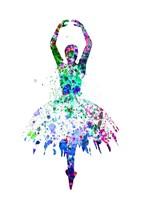 Ballerina Dancing Watercolor 4 Fine Art Print