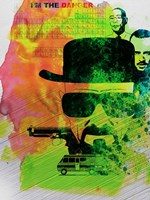 Heisenberg Watercolor Framed Print