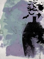 Batman Watercolor Framed Print