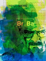 Walter White Watercolor 2 Framed Print