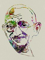 Gandhi Watercolor Fine Art Print