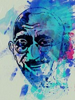 Gandhi Watercolor 1 Fine Art Print