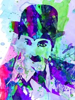 Chaplin Watercolor Framed Print
