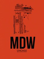 MDW Chicago Airport Orange Fine Art Print