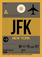 JFK New York Luggage Tag 3 Framed Print
