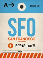 SFO San Francisco Luggage Tag 1 Framed Print