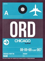 ORD Chicago Luggage Tag 1 Fine Art Print