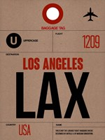 LAX Los Angeles Luggage Tag 1 Fine Art Print