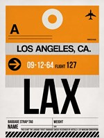 LAX Los Angeles Luggage Tag 2 Fine Art Print