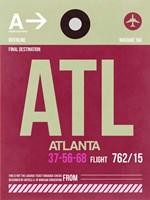 ATL Atlanta Luggage Tag 2 Fine Art Print
