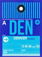 DEN Denver Luggage Tag 2 Fine Art Print
