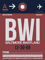 BWI Baltimore Luggage Tag 2 Fine Art Print