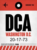 DCA Washington Luggage Tag 1 Fine Art Print