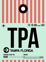 TPA Tampa Luggage Tag 1 Fine Art Print