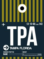 TPA Tampa Luggage Tag 2 Fine Art Print