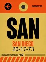 SAN San Diego Luggage Tag 1 Fine Art Print