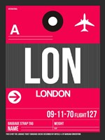 LON London Luggage Tag 2 Fine Art Print