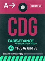 CDG Paris Luggage Tag 1 Fine Art Print