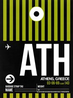 ATH Athens Luggage Tag 2 Fine Art Print