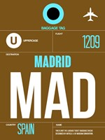 MAD Madrid Luggage Tag 1 Fine Art Print
