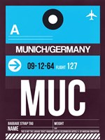 MUC Munich Luggage Tag 1 Fine Art Print