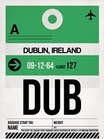 DUB Dublin Luggage Tag 1 Fine Art Print