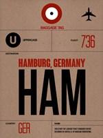HAM Hamburg Luggage Tag 1 Fine Art Print